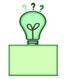 Lösungs-und Ideen-Konzept-Glühlampe-Fragezeichen Lizenzfreie Stockfotos