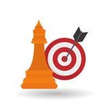 Lösungsdesign über weißem Hintergrund, Vektorillustration Lizenzfreie Stockfotografie