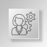 Lösungsikone Geschäfts-Konzept des Geschäfts 3D Stockfoto