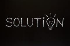 Lösungskonzept auf Tafel Stockbild