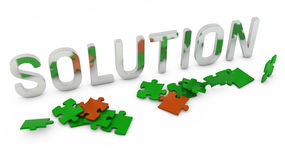 Lösungspuzzlespiel Stockbilder