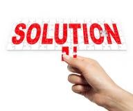 Lösungspuzzlespiel stockfoto