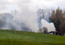 Lövfällande förbränning Royaltyfri Foto
