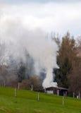 Lövfällande förbränning Royaltyfri Fotografi