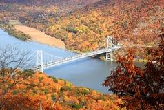 Lövverklandskap på den Hudson flodregionen Royaltyfri Bild