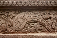 Löwe auf der Eisen-Wand Lizenzfreie Stockbilder