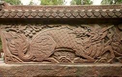 Löwe auf der Eisen-Wand Lizenzfreies Stockbild