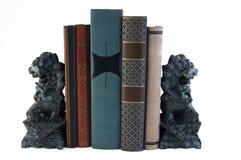 Löwe-Bücherstützen Stockfoto