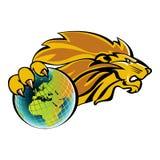 Löwe besitzen die Welt Lizenzfreie Stockfotos