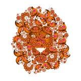 Löwe, der aus den Blumen besteht Lizenzfreie Stockbilder