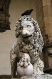 Löwe des Loggia von Lanzi Lizenzfreies Stockbild