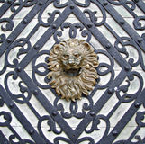 Löwe geformter Griff Stockfotografie