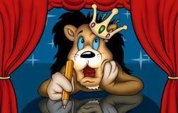 Löwe im Theater lizenzfreie abbildung