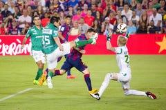 Löwe Messi von FC Barcelona Stockbild