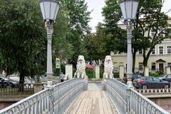 "Löwe ` s Brücke, Griboedova-Kanal Heiliges †""Petersburg, Russland Stockfotos"