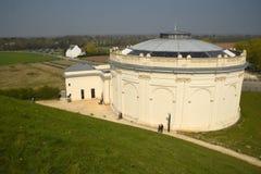 Löwe ` s Hügel Schlachtfeld-Monument bei Waterloo belgien stockfotografie