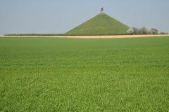 Löwe ` s Hügel Schlachtfeld-Monument bei Waterloo belgien Lizenzfreies Stockbild