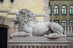 Löwe-Statue Lizenzfreies Stockfoto