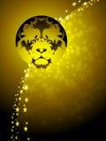 Löwe-Tierkreishintergrund Lizenzfreies Stockbild