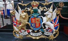 Löwe und Einhorn Lizenzfreies Stockbild