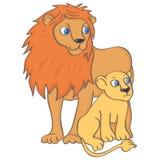 Löwe und Löwejunges vektor abbildung