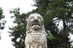 Löwe von Amphipolis Lizenzfreie Stockfotos