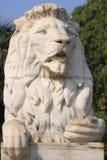 Löwe von Großbritannien bei Victoria Memorial Kolkata lizenzfreies stockbild