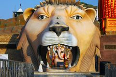 Löwe von Shiva Temple, Indien Lizenzfreie Stockfotos