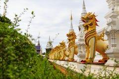 Löwe am wat banden Tempel Stockbilder