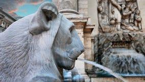Löwehauptdetail Brunnen in Rom Lizenzfreies Stockfoto
