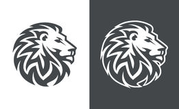 Löwehauptvektor-Logodesign, abstraktes Tigerlogo Lizenzfreie Stockfotografie