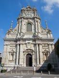 Löwen - barocke Fassade von Kirche St. Michaels (Michelskerk) lizenzfreies stockbild