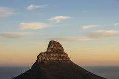 Löwen Haupt-Kapstadt Südafrika stockfotografie