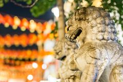 Löwen von China-Stadt in Soho, London Lizenzfreies Stockbild