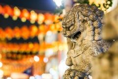 Löwen von China-Stadt in Soho, London Stockbilder