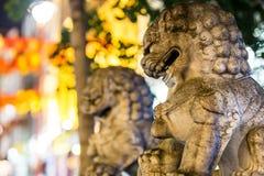 Löwen von China-Stadt in Soho, London Lizenzfreie Stockfotos