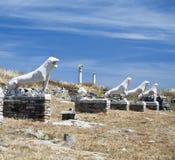 Löwen von Naxians Delos Lizenzfreies Stockbild