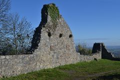 Löwenburg的废墟 免版税库存照片