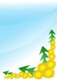 Löwenzahn mit Blättern Lizenzfreies Stockbild