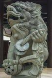 Löweschutzstatue Stockfoto