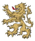 Löwevektor Lizenzfreies Stockbild