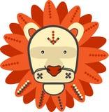 Löwevektorillustration Stockbild