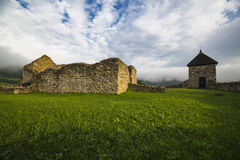 Lúčka - ruins of the old Hussite fortification with preserved Royalty Free Stock Photos