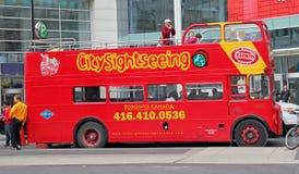 Lúpulo do barramento de excursão de Toronto no lúpulo fora Imagem de Stock Royalty Free