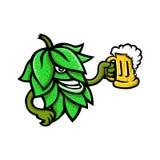 Lúpulos que bebem a mascote da cerveja Foto de Stock Royalty Free