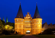 Lübeck, Germany. The Holsten Gate in Lübeck, Germany Stock Image