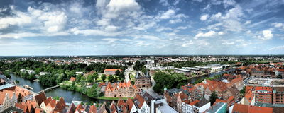 Lübeck. Panorama of Lübeck in North Germany near the Baltic Sea Stock Image