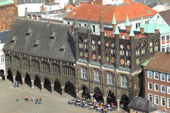 Lübeck - vieil hôtel de ville images libres de droits