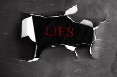 Lügen aufgedeckt Lizenzfreie Stockbilder