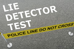 Lügen-Detektor-Testkonzept Lizenzfreie Stockfotos
